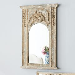 French Antiqued Champagne Mirror