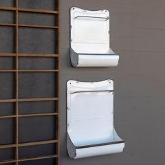 Enameled Wall Bin With Towel Bar Set of 2