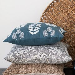 Flowers and Beads Embroidered Accent Pillow