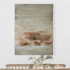 Earth Tones Abstract Canvas Wall Art