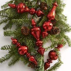 Elegant Glass Finial Ornament, Set of 3