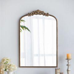 Elegant Gold Mirror With Ornate Detail