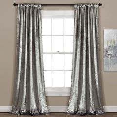 Elegant Velvet Window Curtain Panels Set of 2