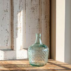 Embossed Cellar Bottle Vase, 12 Inch