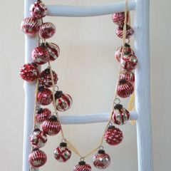 Embossed Glass Ball Ornament Garland