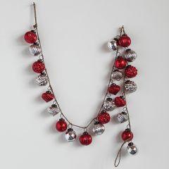 Embossed Mercury Glass Garland of Ornaments