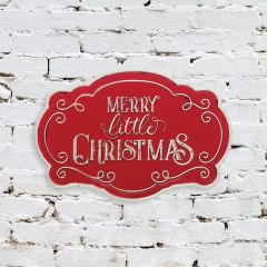 Embossed Merry Little Christmas Wall Sign