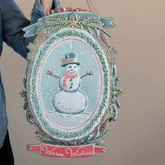 Embossed Metal Holiday Wall Ornaments Set of 4