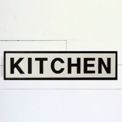 Embossed Metal Kitchen Wall Decor Sign