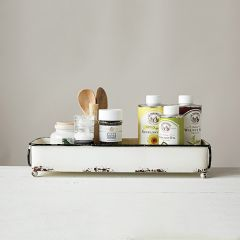 Enamel Rectangle Tray With Handles