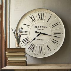 Enameled Old Town Wall Clock