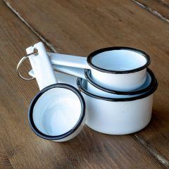Enamelware Measuring Cups, Set of 4