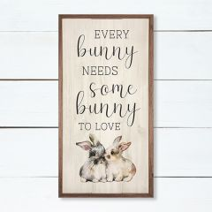 Every Bunny Needs Some Bunny Framed Wall Sign