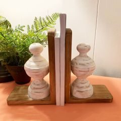 Distressed Finial Bookends