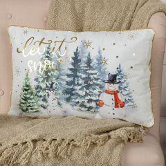 Let It Snow Accent Pillow