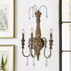 Old World Wall Sconce With Hanging Accents