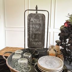 Two Sided Chalkboard On A Stand