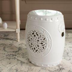 Classic Ceramic Drum Garden Stool