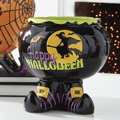 Fun Footed Candy Bowl Happy Halloween