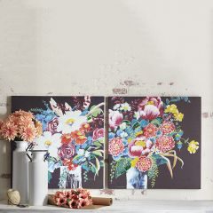 Bright Bold Bouquet Wall Art Set of 2