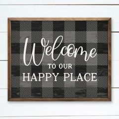 Welcome To Our Happy Place Wall Art
