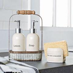 Soap Dispenser Caddy Set
