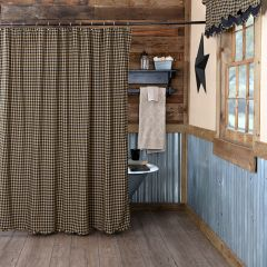 Country Check Shower Curtain