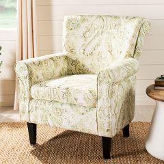 Paisley Print Roll Arm Chair