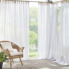 Clean and Crisp Tab Top Sheer Curtain Panel Set of 2 52x108