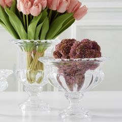 Elegant Pressed Glass Urn