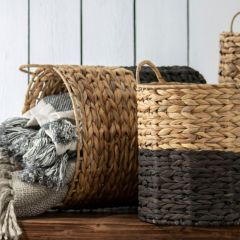 Water Hyacinth Storage Baskets Set of 3