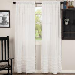 Ruffled Sheer Petticoat Panel Set of 2