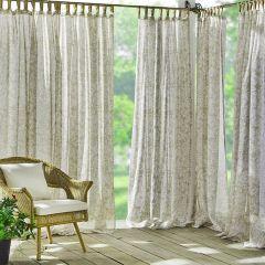 Tab Top Floral Sheer Curtain Panel