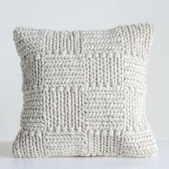 Knit Wool Throw Pillow