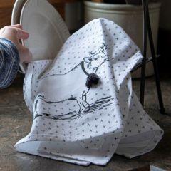 Vintage Inspired Farm Animal Tea Towels Set of 3