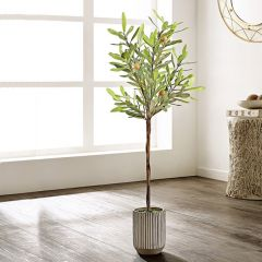 Simple Potted Faux Olive Tree