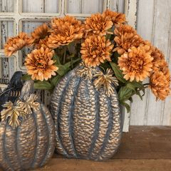 Fall Harvest Gerbera Daisy Stem Set of 6