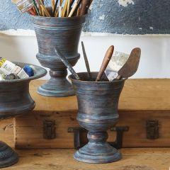 Trophy Urn Planters Set of 2