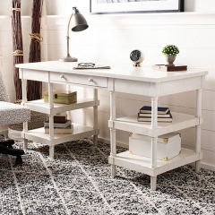 Whitewashed Fir Wood Desk