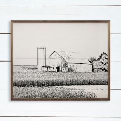Barn And Silo Sketch Wall Art