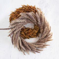 Dried Farmhouse Reed Wreath