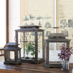 Reclaimed Wood Display Cases Set of 3