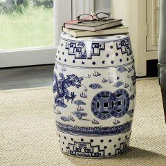 Chinese Dragon Breath Ceramic Garden Stool