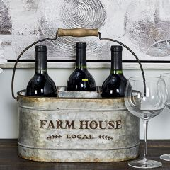 Metal Farmhouse Wine Bucket