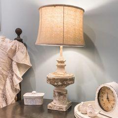 Distressed Rustic Farmhouse Table Lamp