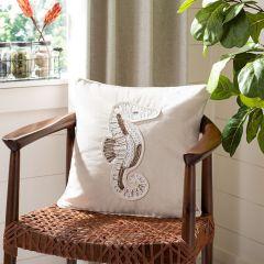Seahorse Accent Pillow