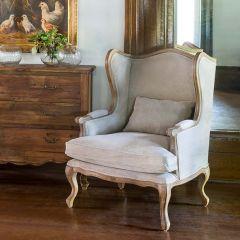 Upscale Farm Wingback Chair