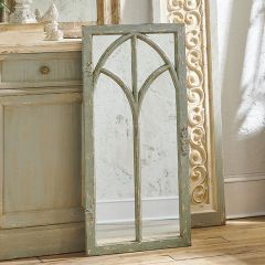 Gothic Style Distressed Arched Mirror