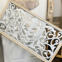 Wood Framed Ornate Wall Panel