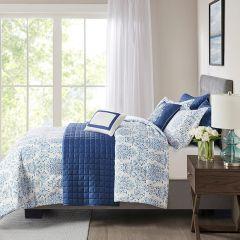 8 Piece Seersucker Comforter and Coverlet Set